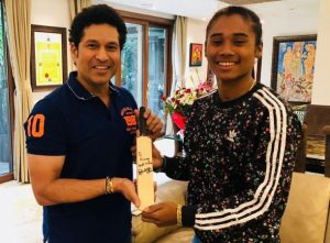 Sachin paying tribute to the dhing express