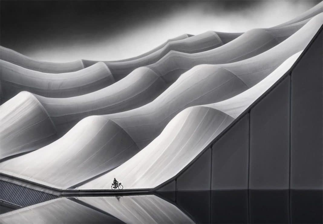 """Lonely Biker"" by Marcel van Balken. Marseille, France. 2° Classified, Architecture & Urban Spaces"