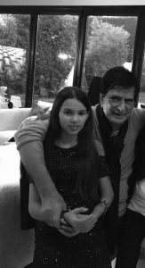 Sirine Jahangir with her father