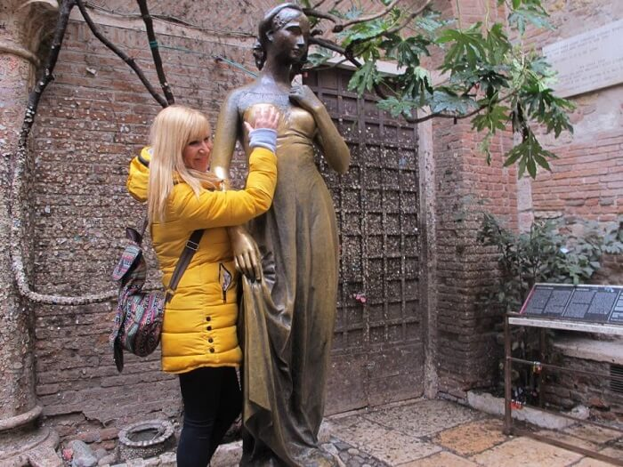 Statue of Juliet - Luckiest Places in the World