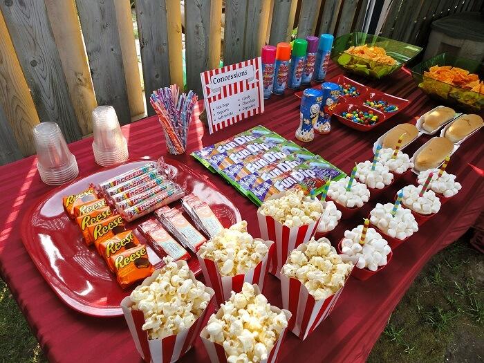 Food - DIY Backyard Movie Theatre