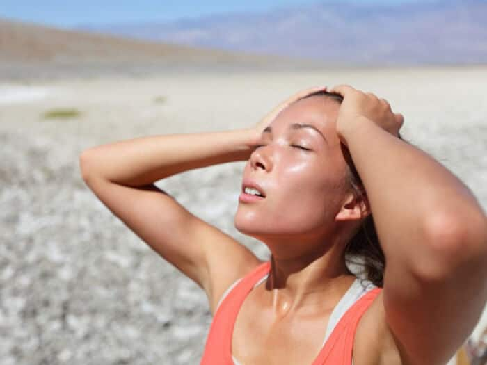 Sweat removes toxic from body