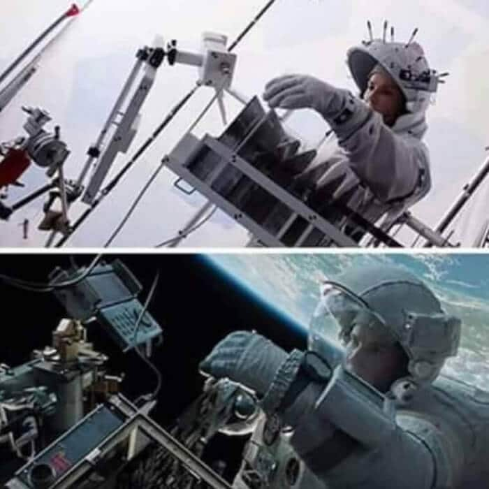Gravity - Behind the Scene Photos of Hollywood