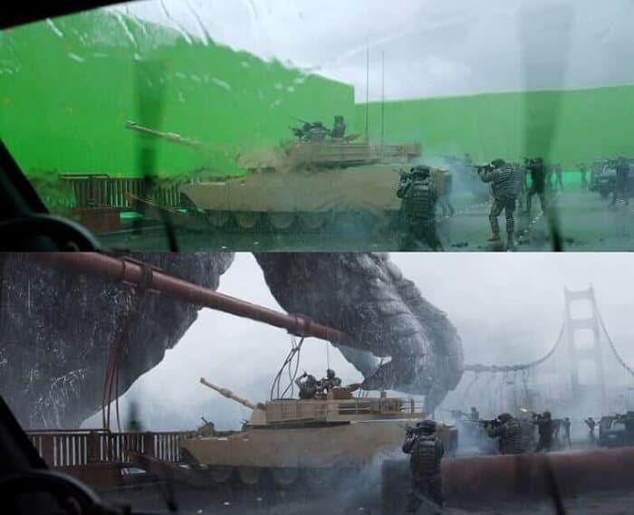Godzilla - BTS of famous movies