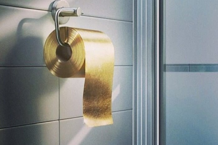 Gold Toilet Paper - Most Expensive Useless Things