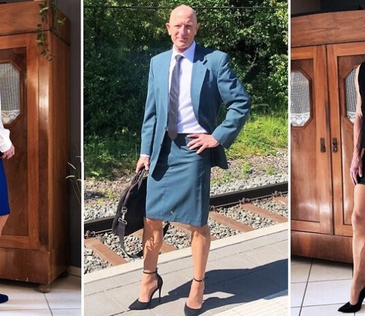A Man Proves that Skirts and Heels are Not Only for Women