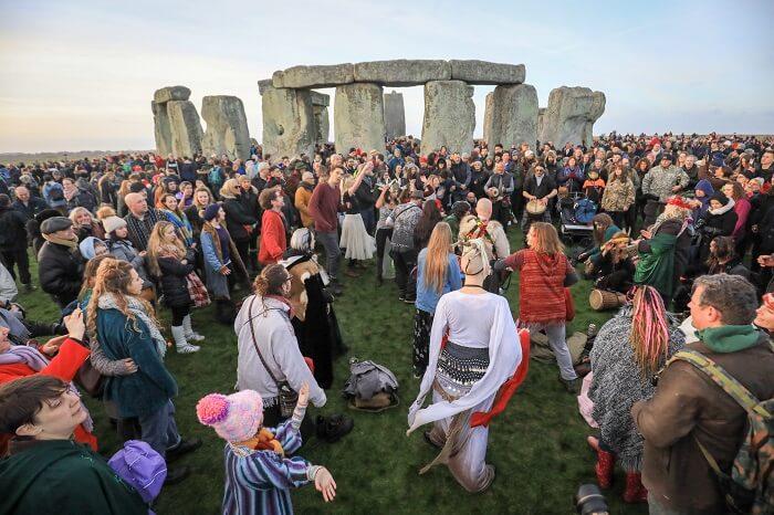 Stonehenge gathering, England