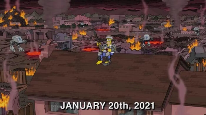Simpsons Predict the Attack on the US Capitol