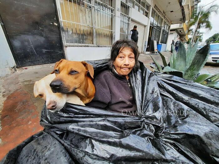 Woman Sleeps In a Garbage Bag